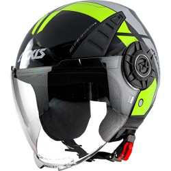 Capacete AXXIS OF513 Metro Cool B3 - Amarelo Fluo