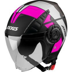 Capacete AXXIS OF513 Metro Cool B8 - Rosa Fluo
