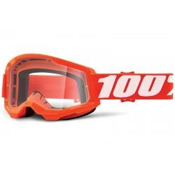Oculos / Goggles 100% Strata 2  Laranja com lente transparente