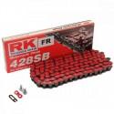 Corrente RK 428 SB com134 elos - Vermelho