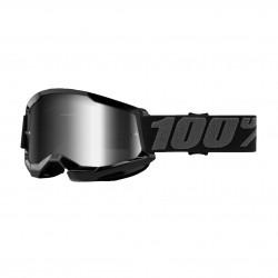 Goggles 100% Strata 2 Preto com lente espelhada