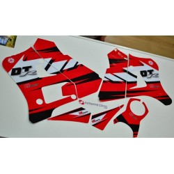 Kit de Autocolantes Yamaha DTR 125 Hpires - Vermelho