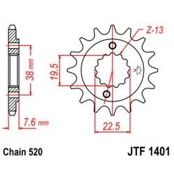 Pinhão JTF 1401 - 16 Dentes - Suzuki LTZ / LTR