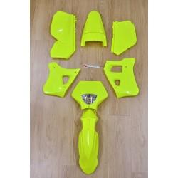 Kit de plásticos Yamaha DTR 125 - Amarelo Fluo + Porta Farol